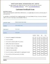 Printable Survey Forms Interesting Customer Feedback Form Template Microsoft Templates Pinterest