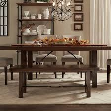 Industrial Extending Dining Table Wonderful Dining Room Table Bench Rectangle Shape Industrial Style