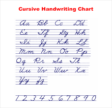 Cursive Writing Chart Example Download