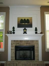 build fireplace mantels so building fireplace surround over brick