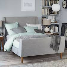 grey upholstered sleigh bed. Upholstered Sleigh Bed   West Elm Australia Grey