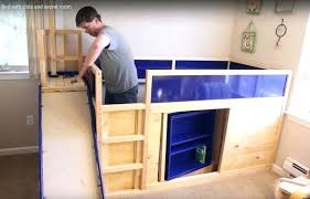 bunk bed with slide and desk. Bunk Bed With Slide Ikea Side Playhouse Instructions Kids Free Plans Furniture . And Desk P