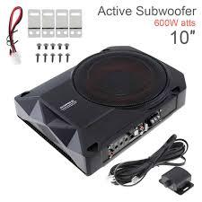 Digital Design 10 Inch Subs Universal Black 10 Inch 600w 12v Fuselage Slim Under Seat Car Active Subwoofer Bass Amplifier Speaker