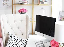meagan home office. Meagan Ward\u0027s Girly Chic Home Office {Office Tour Stylists F