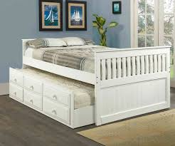Mission Full Size Captains Trundle Bed White