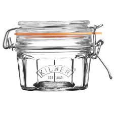 kilner facetted clip top jar 250ml