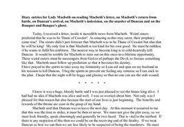 lady macbeth diary entry essay  lady macbeth diary entry essay