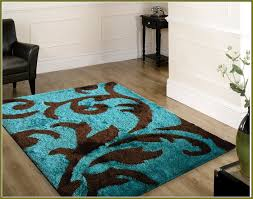teal and brown area rugs vbags regarding blue decor 18