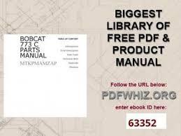 bobcat 773 c parts manual youtube Bobcat 753 Parts Diagram bobcat 773 c parts manual bobcat 753 parts diagram free