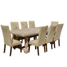 italian wood furniture. Italian Mango Wood White Dining Table \u0026 Cafe Logo Fabric Chairs Furniture