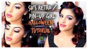 50s retro pin up makeup tutorial