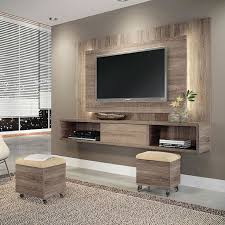 also the tv unit is raised so you could fit extra seating.---Conjunto Sala  de Estar Lume com Puff Roble Graffiato/Suede Bege HB Mveis