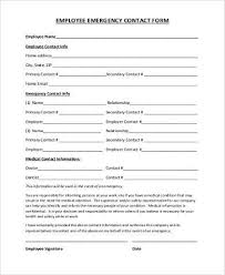 Employee Emergency Contact Form Samples 8 Free Documents In Word Pdf