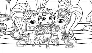 Small Picture Shimmer And Shine Coloring Pages GetColoringPagescom