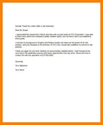 Thank You Letter After Interview For Administrative Assistant
