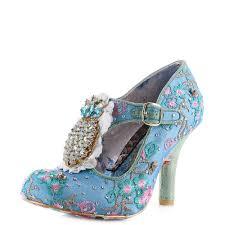 Irregular Choice Shoe Size Chart Details About Womens Irregular Choice Pea Pods Blue High Heel Court Shoes Shu Size