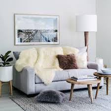 icelandic shorn sheepskin four hide throw rug white 190cm x 120cm