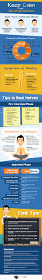 how to stay calm job interviews infographic infographic