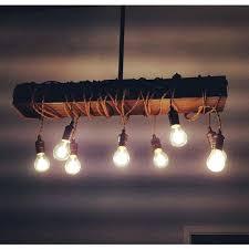 wood beam chandelier 8 light rustic
