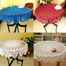 36inch cotton handmde crochet tablecloth round lace home dining room table cover