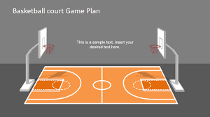 Basketball Powerpoint Template Basketball Court Game Plan PowerPoint Shapes SlideModel 16