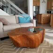 wood stump coffee table azspring