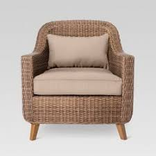 wicker patio chairs. Simple Patio Mayhew All Weather Wicker Patio Club Chair  Threshold And Chairs R