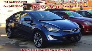 hyundai elantra 2014 blue. Interesting Blue 2014 Hyundai Elantra For Sale At Trans Auto In Milwaukee WI In Blue E