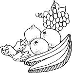 Картинки для раскраски овощи и фрукты