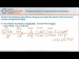 Chemistry Practice Problems Compound Unit Conversions Youtube