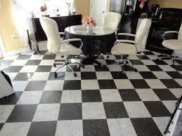 black and white checd vinyl flooring sheet