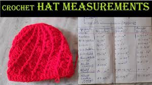 Crochet Hat Measurements Crochet Tamil