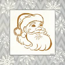Santa Watermark Silver And Gold Santa