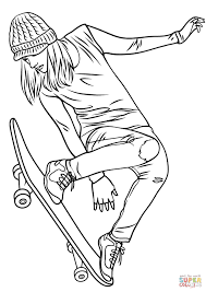 girl skateboarding coloring page tony hawk pages
