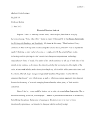example of text analysis essay examples of rhetorical analysis essays a rhetorical look at