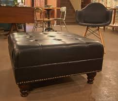 decorate a leather ottoman coffee table leather ottoman coffee table round