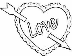 In honor of saint valentine, valentine's day is marked by the exchange of valentine's day cards symbols of valentine's day include hearts coloring pages, doves coloring pages, and winged cupid coloring pages. Valentine Heart Coloring Pages Coloring Home