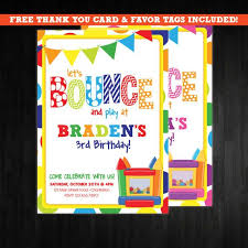 Birthday Invitation Flyer Template Adorable 48 Best Bounce House Party Images On Pinterest Bounce House Flyer