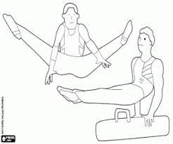 Kleurplaten Artistieke Gymnastiek Ritmische Gymnastiek Kleurplaat