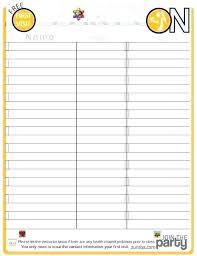 Potluck Sign Up Sheet Template Word Beautiful Class Free