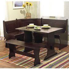 breakfast furniture sets. Breakfast Nook Set Corner Dining Espresso Wood L Shaped 3 Piece Contemporary Furniture Sets S