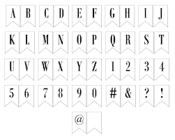 Printable Letter For Banners Free Printable Banner Letters Includes Entire Alphabet