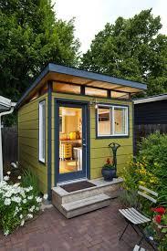 small outdoor office. Ein Kleines, Modernes, Flachdaches, Gelbes Gartenhaus. Alles Für Ihrer Perfekte Freizeit. Small Garden WorkshopSmall OfficeTiny Outdoor Office H
