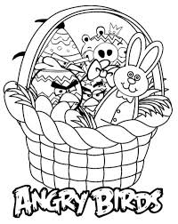 angry birds easter basket coloring pages angry birds coloring