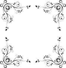 wedding invitation visual arts picture frames black and white ornament