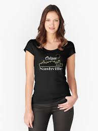 Nashville Solar Eclipse Skyline 082117 Womens Fitted Scoop T Shirt By Tnsweettee