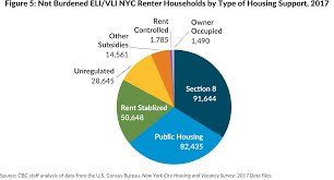 not burdened eli vli nyc er households by type of housing support