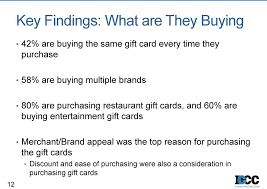 are ing entertainment gift cards merchant brand appeal was the top reason for purchasing