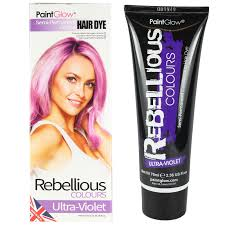 Semi Permanent Hair Dye Colour Chart Paintglow Semi Permanent Hair Dye Ultra Violet Free Gloves