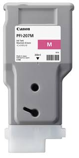 <b>Canon PFI</b>-<b>207M Magenta</b> Ink Cartridge (<b>300ml</b>) for ...